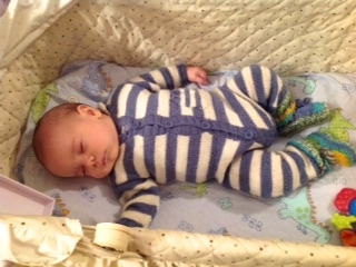 Another Striped Baby Onesie But This Time For A Baby Boy